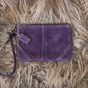 Purple Suede Coach wristlet! 💜